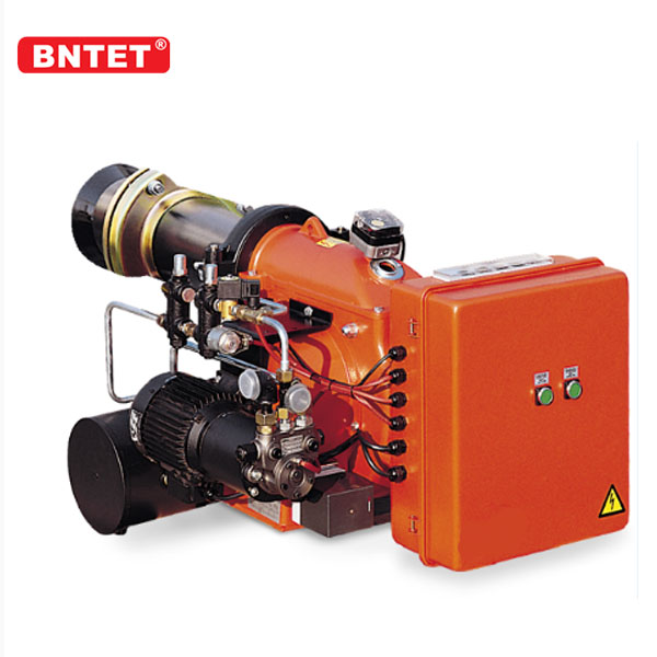 Vertical gas steam heavy oil burner